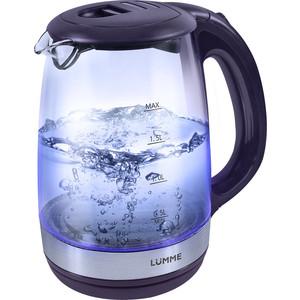 Чайник электрический Lumme LU-135 темный топаз чайник lumme lu 140 темный топаз 2200 вт 2 л стекло