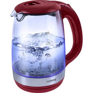 Чайник электрический Lumme LU-135 красный гранат чайник дисковый 1800вт 2л lumme lu 219