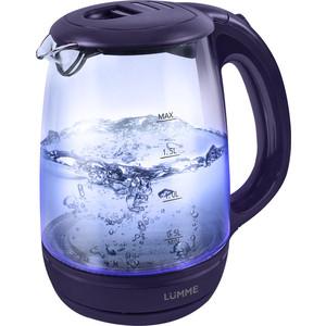 Чайник электрический Lumme LU-134 темный топаз чайник lumme lu 140 темный топаз 2200 вт 2 л стекло