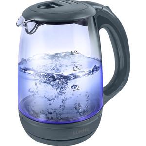 Чайник электрический Lumme LU-134 серый жемчуг мультиварка lumme lu 1445 860 вт 5 л черный красный