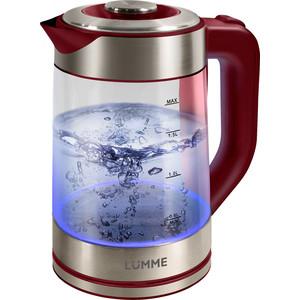 Чайник электрический Lumme LU-133 красный гранат цена