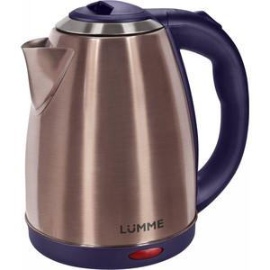 Чайник электрический Lumme LU-132 темный циркон мультиварка lumme lu 1445 860 вт 5 л черный красный