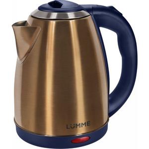 Чайник электрический Lumme LU-132 золотой сапфир мультиварка lumme lu 1445 860 вт 5 л черный красный