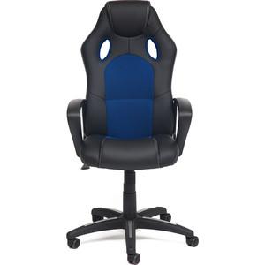 Кресло TetChair Racer кожзам/ткань черный/синий 36-/10