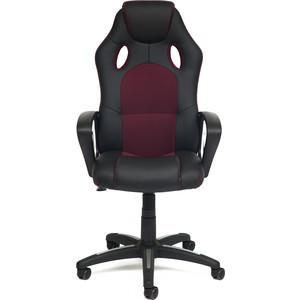Кресло TetChair Racer кожзам/ткань черный/бордо 36-/13
