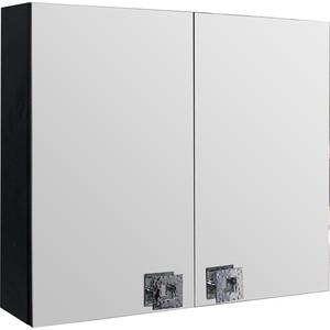 Зеркальный шкаф Mixline Мальта 80 черный (2181105252667) bas мальта