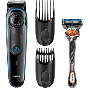 Машинка для стрижки волос Braun BT3040+RZR выпрямитель для волос braun st780