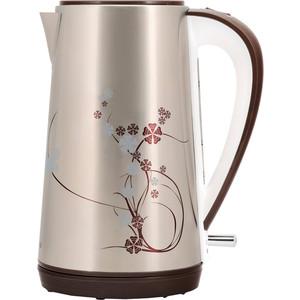 Чайник электрический Polaris PWK 1726CA серебристый/рисунок чайник электрический polaris pwk 1726ca 2400вт серебристый и рисунок
