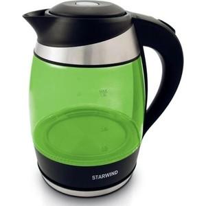 Чайник электрический StarWind SKG2213 зеленый/черный утюг starwind sir4315 1200вт зеленый