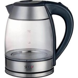 Чайник электрический Sinbo SK 7379 черный чайник sinbo sk 7358 2200 вт 1 8 л пластик слоновая кость