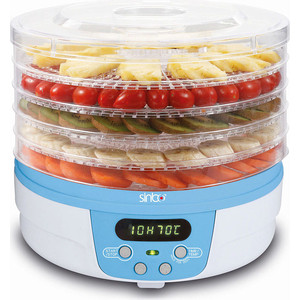 Сушилка для овощей Sinbo SFD 7403 синий сушка для овощей и фруктов sinbo sfd 7401 250вт белый