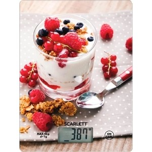 Кухонные весы Scarlett SC-KS57P22 рисунок/ягоды весы кухонные scarlett sc ksd57p03 белый рисунок