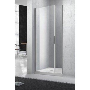 Душевая дверь в нишу BelBagno SELA-B-1-80-Ch-Cr стекло Chinchilla душевая шторка на ванну belbagno sela v 11 120 140 ch cr r стекло chinchilla