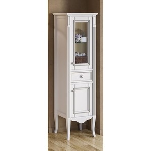 Пенал Timo Аура 2 дверцы, 1 ящик, белый с серебром (Au.p-M-VR (B-S)) доска для объявлений dz 1 2 j8b [6 ] jndx 8 s b