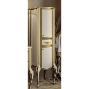 Пенал Timo Еллен плюс 2 дверцы, 1 ящик, бежевый с золотом (Elp.p M-VR (9001-G)-R) timo eco te 0720 r 120х80х215 см