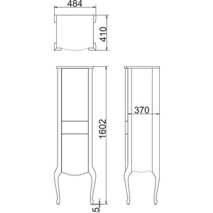 Пенал Timo Еллен плюс 2 дверцы, 1 ящик, аворио (Elp. -VR (A)-)