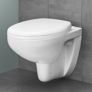 Унитаз подвесной Grohe Bau Ceramic с сиденьем микролифт (39427000 + 39435000) унитаз с инсталляцией grohe solido с сиденьем микролифт 39186000