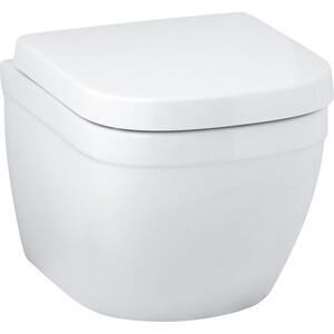 Унитаз подвесной 49 см Grohe Euro Ceramic с сиденьем микролифт (39206000 + 39458000) крышка сиденье для унитаза grohe euro ceramic 39458000