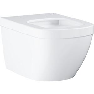 Унитаз подвесной 54 см Grohe Euro Ceramic с сиденьем микролифт (39328000 +39330000) унитаз с инсталляцией grohe solido с сиденьем микролифт 39186000