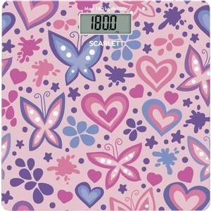 Весы Scarlett SC-BS33E092 розовый/рисунок весы напольные scarlett sc bsd33e894