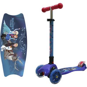 Самокат 3-х колесный 1Toy Disney Холодное сердце (2018) Т11433 1toy ледянка 1toy disney холодное сердце 54см