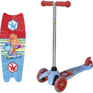Самокат 3-х колесный 1Toy Фиксики Т58463 самокат детский трехколесный 1 toy фиксики со светящимися колесами цвет голубой т58463