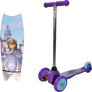 Самокат 3-х колесный 1Toy Disney София, управление наклоном Т59560 disney 12 цветов софия disney