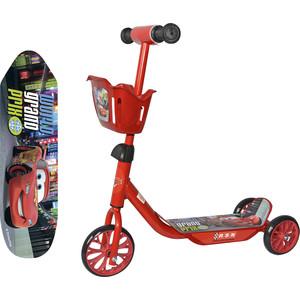 Самокат 3-х колесный 1Toy Disney Тачки, корзинка Т59977 сплиттер oxion tv sat 2x tv ox spl2w2300pb