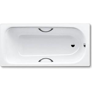 Стальная ванна Kaldewei Eurowa star 160x70x39 см 2.3 мм с отверстиями для ручек (119721020001)
