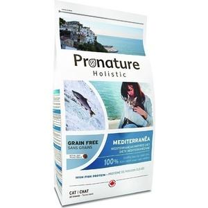 Сухой корм Pronature Holistic Cat GF Mediterranea Inspired Diet Средиземноморское меню беззерновой с рыбой для кошек 2кг (102.3004) корм сухой pronature holistic для кошек индейка с клюквой 2 72 кг