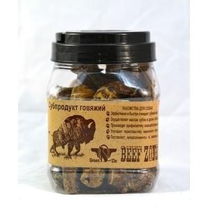 Лакомство GreenQZin Beef Zone сушеный бычий пенис субпродукт говяжий для собак 500г (BZPzC)