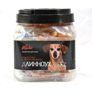 Лакомство GreenQZin Miniki Длинноух уши кролика с кроличьим мясом для собак мелких пород 270г (RbEar270Pc)