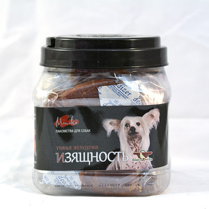 Лакомство GreenQZin Miniki Изящность утиные желудочки для собак мелких пород 525г (DkGz525Pc) лакомство мнямс для собак утиные грудки