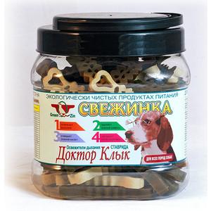 Лакомство GreenQZin Свежинка Доктор клык освежитель дыхания ставрида для собак всех пород 480г (KIMc480t)