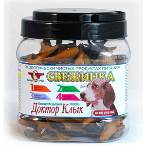 Лакомство GreenQZin Свежинка Доктор клык освежитель дыхания лосось для собак всех пород 630г (KISI630t) chewell лакомство для собак всех пород куриные дольки нежные уп 100г