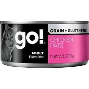 Консервы GO! Cat Grain+Gluten Free Chicken Pate беззерновой паштет с курицей для кошек 100г (28013) danna korn living gluten free for dummies