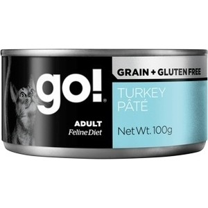 Консервы GO! Cat Grain+Gluten Free Turkey Pate беззерновой паштет с индейкой для кошек 100г (28014) danna korn living gluten free for dummies