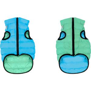 Курточка CoLLaR AiryVest Lumi двухсторонняя светящаяся салатово-голубая размер размер S 30 для собак (2166) london fog heritage women s long down coat with fur collar