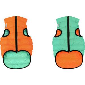 Курточка CoLLaR AiryVest Lumi двухсторонняя светящаяся оранжево-салатовая размер S 30 для собак (2160) men s casual fur collar coat solid hooded fleece