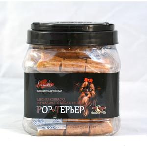 Лакомство GreenQZin Rock Терьер мясная колбаска из фазаньего мяса с рисом для собак мелких пород 750г (PhRc750Pc)