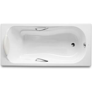 Чугунная ванна Roca Haiti 170x80 antislip с отверстиями для ручек хром (2327G000R)