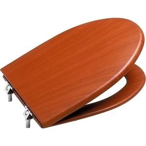Фотография товара сиденье для унитаза Roca America деревянное вишня плавное закрывание (801492M14) (83713)