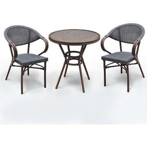 Комплект мебели Afina garden A1007/D2003S-AD64 dark brown (2+1)