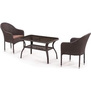 Комплект мебели из искусственного ротанга Afina garden ST20B/S20B-1 brown (2+1)