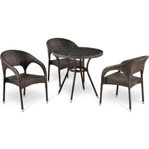 Комплект мебели из  искусственного ротанга Afina garden T283ANT/Y90C-W51 brown (3+1)