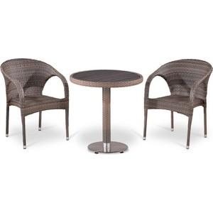 Комплект мебели из  искусственного ротанга Afina garden T501DG/Y290BG-W1289 pale (2+1)