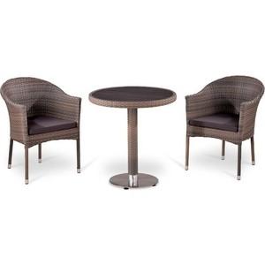 Комплект мебели из  искусственного ротанга Afina garden T501DG/Y350G-W1289 pale (2+1)