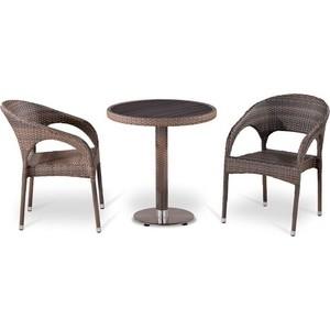 Комплект мебели из  искусственного ротанга Afina garden T501DG/Y90CG-W1289 pale (2+1)