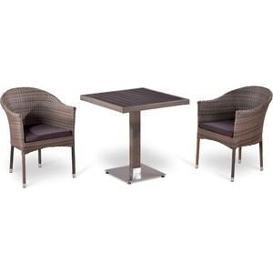 Комплект мебели из  искусственного ротанга Afina garden T502DG/Y350G-W1289 pale (2+1)