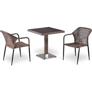 Комплект мебели из  искусственного ротанга Afina garden T502DG/Y35G-W1289 pale (2+1)
